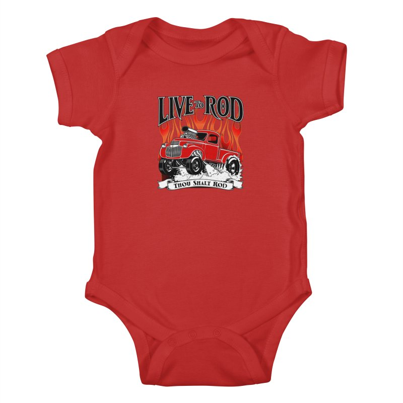 46' Chevy Gasser Pickup - RED Kids Baby Bodysuit by screamnjimmy's Artist Shop