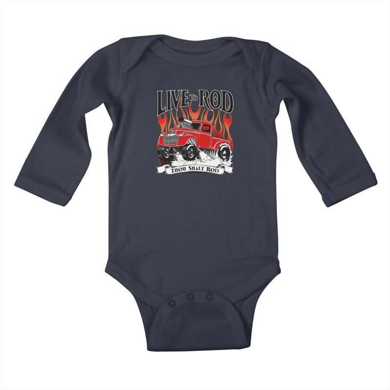 46' Chevy Gasser Pickup - RED Kids Baby Longsleeve Bodysuit by screamnjimmy's Artist Shop