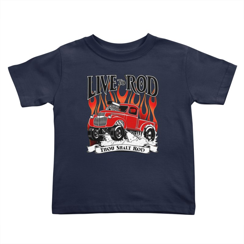 46' Chevy Gasser Pickup - RED Kids Toddler T-Shirt by screamnjimmy's Artist Shop