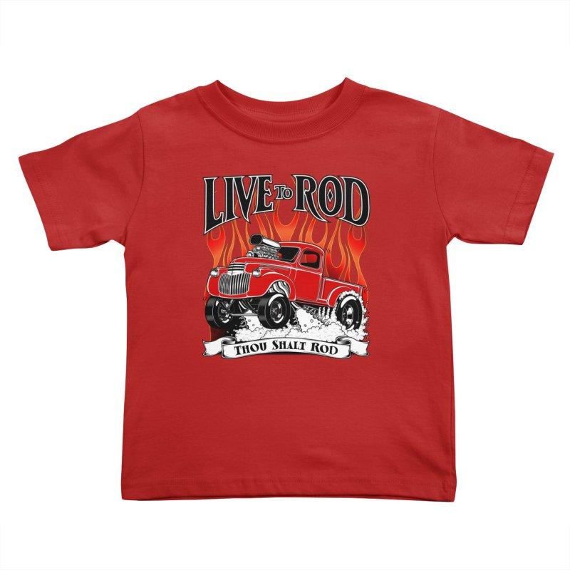 46' Chevy Gasser Pickup - RED Kids Toddler T-Shirt by screamnjimmy's Artist Shop