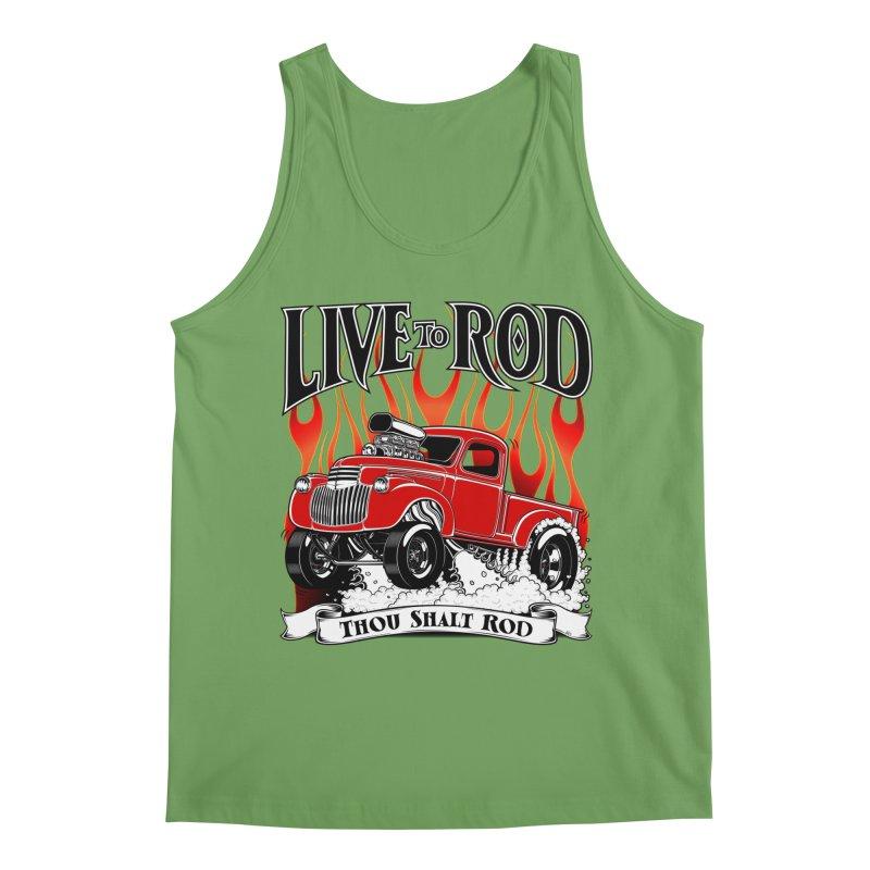 46' Chevy Gasser Pickup - RED Men's Tank by screamnjimmy's Artist Shop