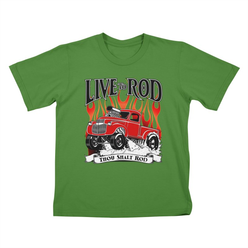 46' Chevy Gasser Pickup - RED Kids T-shirt by screamnjimmy's Artist Shop