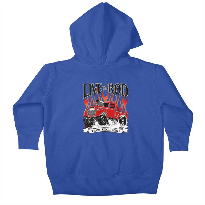 46' Chevy Gasser Pickup - RED Kids Baby Zip-Up Hoody by screamnjimmy's Artist Shop