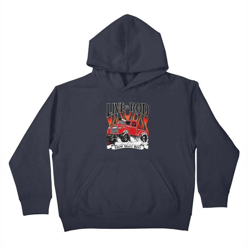 46' Chevy Gasser Pickup - RED Kids Pullover Hoody by screamnjimmy's Artist Shop