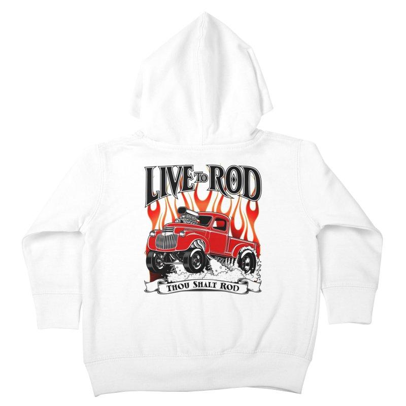 46' Chevy Gasser Pickup - RED Kids Toddler Zip-Up Hoody by screamnjimmy's Artist Shop