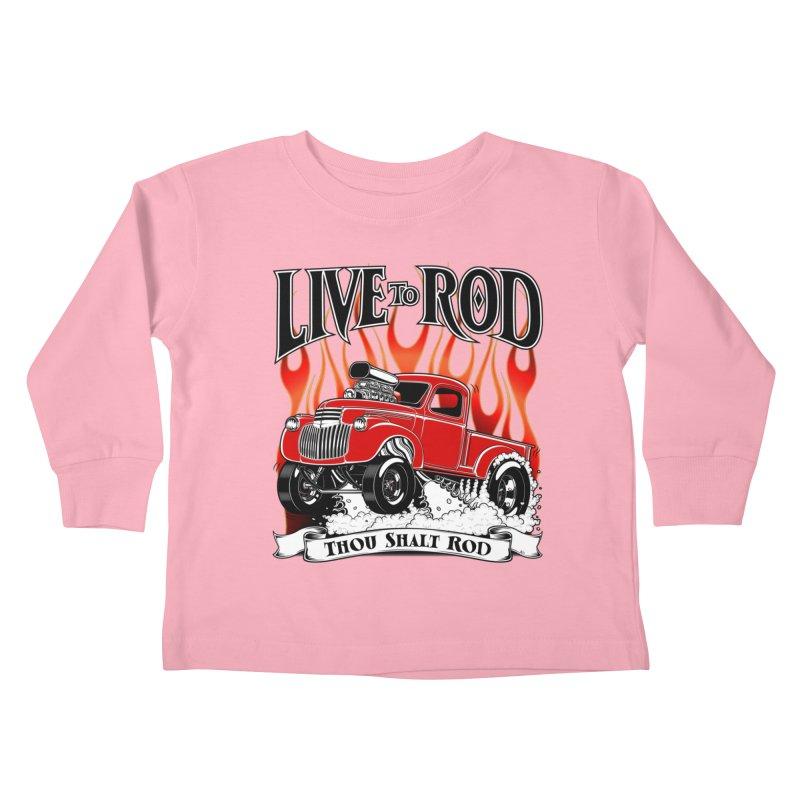 46' Chevy Gasser Pickup - RED Kids Toddler Longsleeve T-Shirt by screamnjimmy's Artist Shop