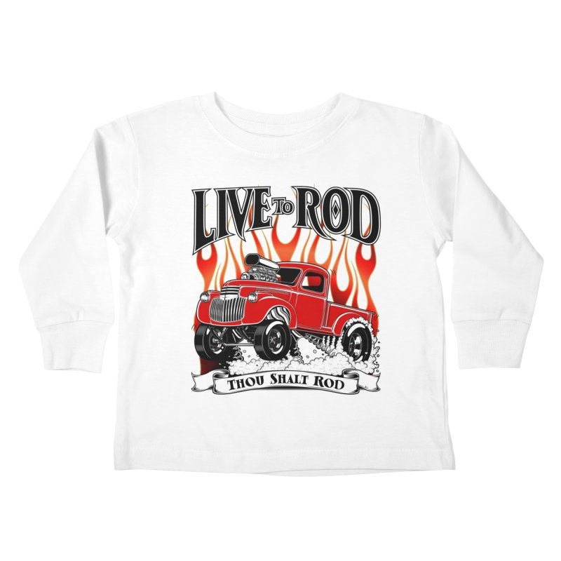 46' Chevy Gasser Pickup - RED Kids Toddler Longsleeve T-Shirt by screamnjimmy's Artist Shop