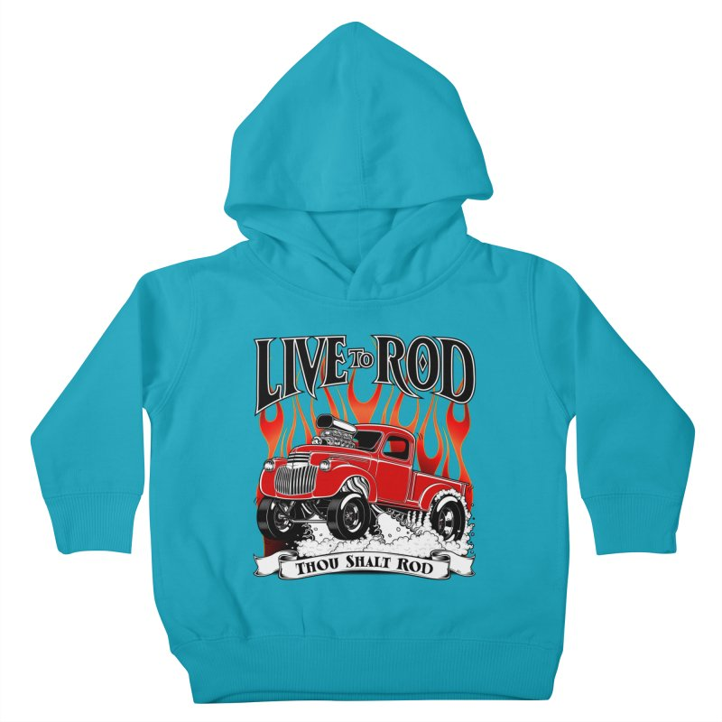 46' Chevy Gasser Pickup - RED Kids Toddler Pullover Hoody by screamnjimmy's Artist Shop
