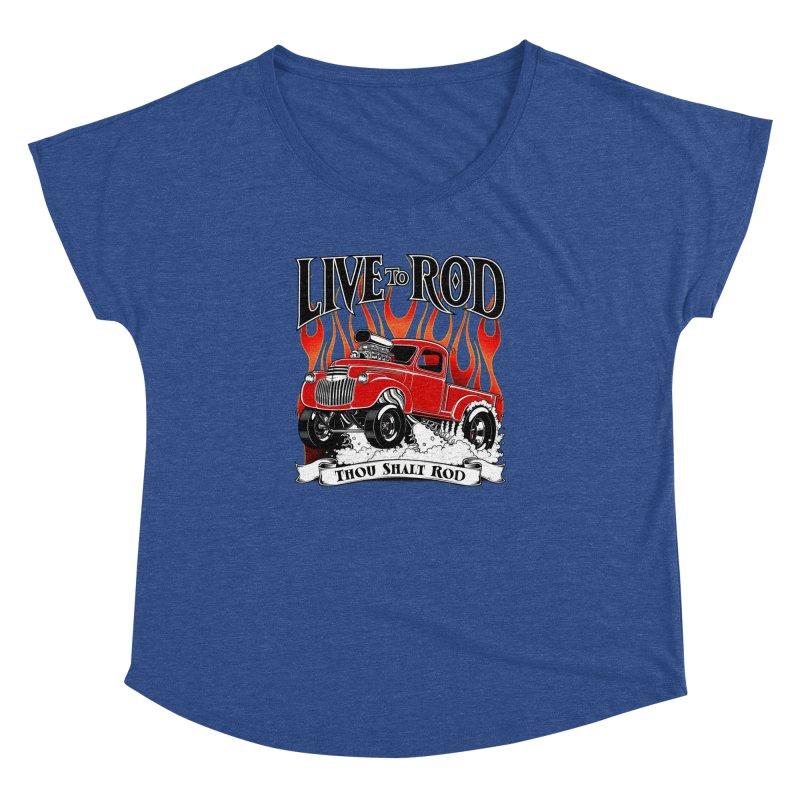 46' Chevy Gasser Pickup - RED Women's Dolman by screamnjimmy's Artist Shop