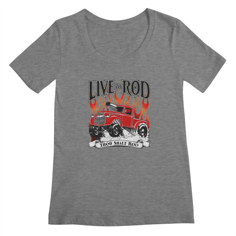 46' Chevy Gasser Pickup - RED   by screamnjimmy's Artist Shop