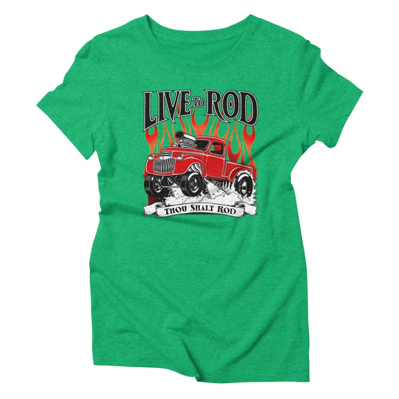 46' Chevy Gasser Pickup - RED Women's Triblend T-Shirt by screamnjimmy's Artist Shop