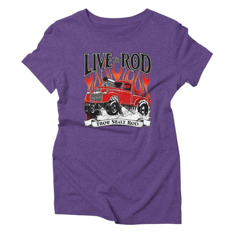 46' Chevy Gasser Pickup - RED Women's Triblend T-Shirt by screamnjimmy's Artist Shop