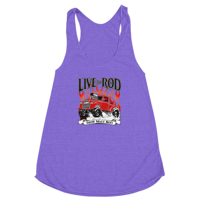 46' Chevy Gasser Pickup - RED Women's Racerback Triblend Tank by screamnjimmy's Artist Shop