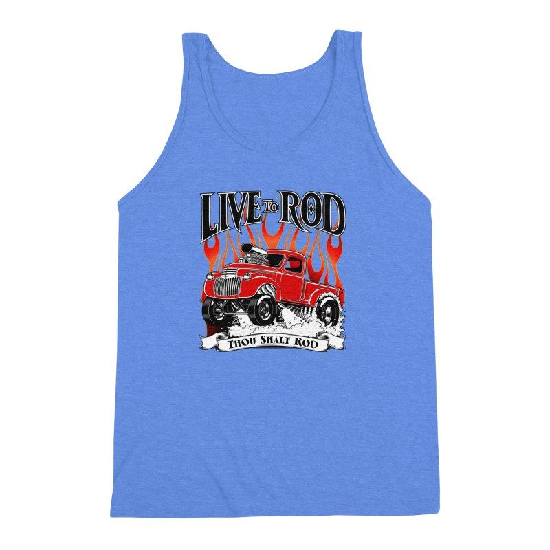 46' Chevy Gasser Pickup - RED Men's Triblend Tank by screamnjimmy's Artist Shop