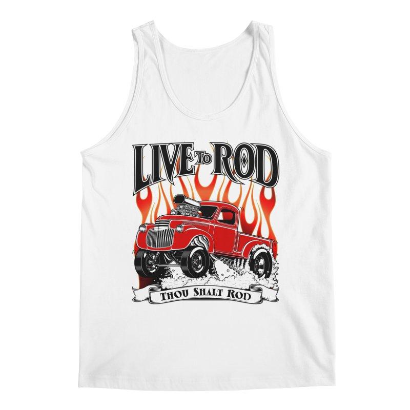 46' Chevy Gasser Pickup - RED Men's Regular Tank by screamnjimmy's Artist Shop