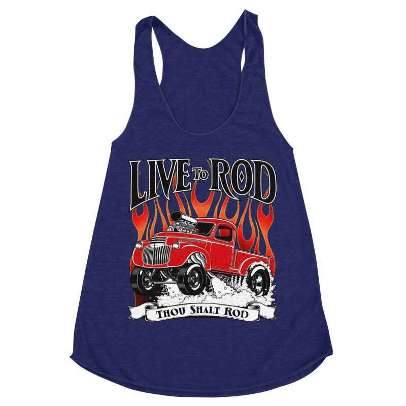 46' Chevy Gasser Pickup - RED Women's Racerback Triblend Tank by screamnjimmy's Artist Shop