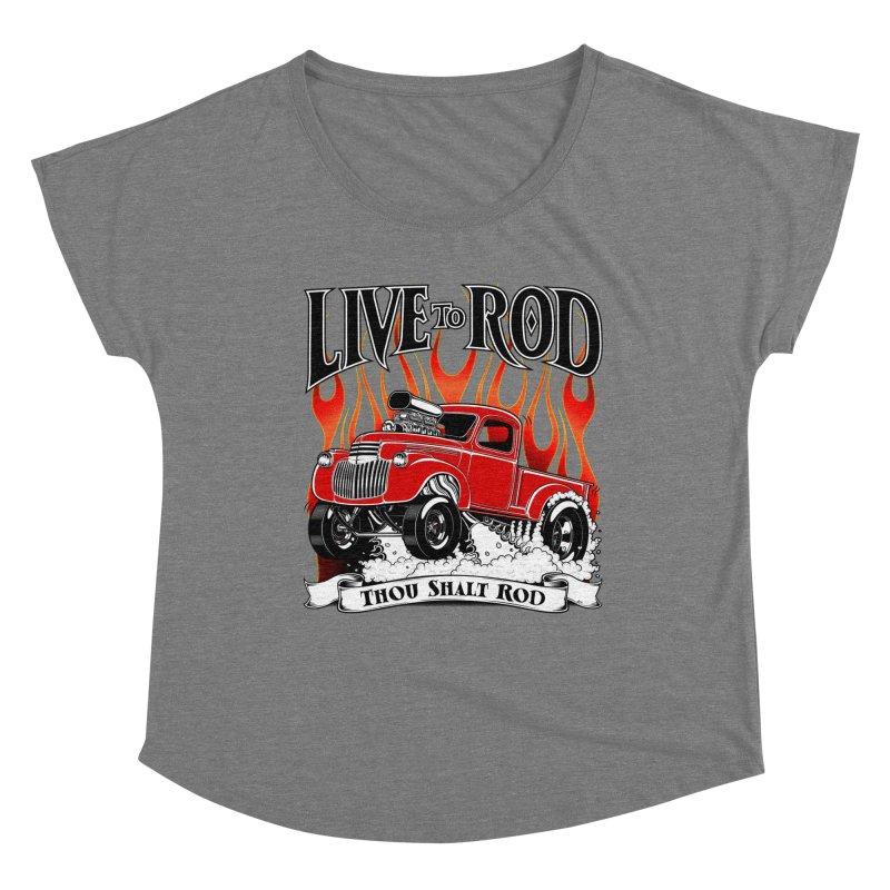 46' Chevy Gasser Pickup - RED Women's Scoop Neck by screamnjimmy's Artist Shop