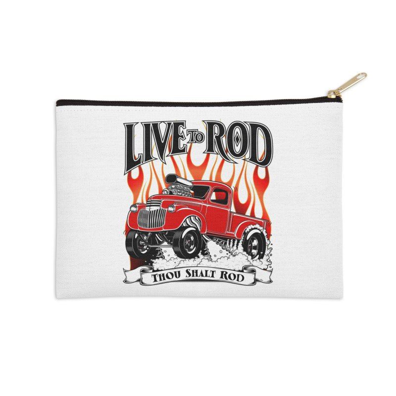 46' Chevy Gasser Pickup - RED Accessories Zip Pouch by screamnjimmy's Artist Shop