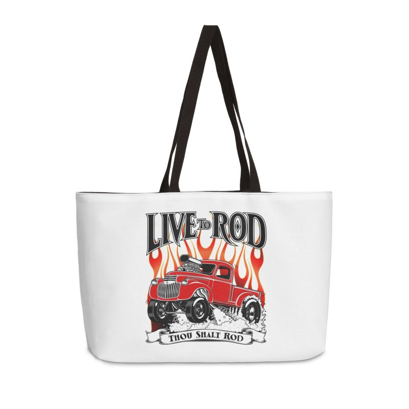 46' Chevy Gasser Pickup - RED Accessories Bag by screamnjimmy's Artist Shop
