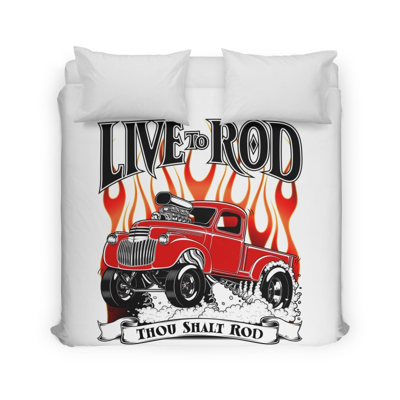46' Chevy Gasser Pickup - RED Home Duvet by screamnjimmy's Artist Shop