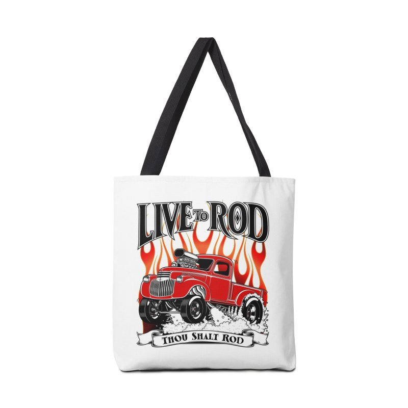 46' Chevy Gasser Pickup - RED Accessories Tote Bag Bag by screamnjimmy's Artist Shop