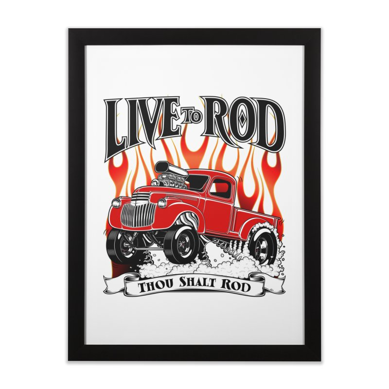 46' Chevy Gasser Pickup - RED Home Framed Fine Art Print by screamnjimmy's Artist Shop