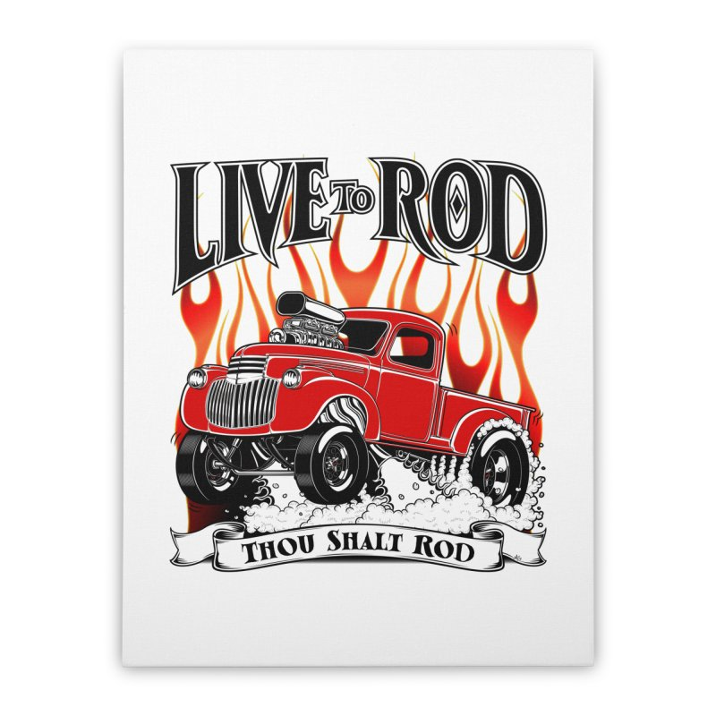 46' Chevy Gasser Pickup - RED Home Stretched Canvas by screamnjimmy's Artist Shop