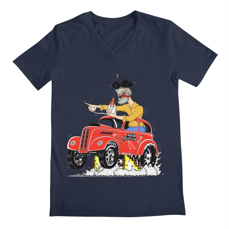 1948 Anglia for Dennis. Rev 1  Men's V-Neck by screamnjimmy's Artist Shop