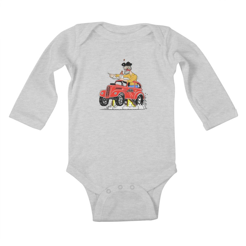 1948 Anglia for Dennis. Rev 1  Kids Baby Longsleeve Bodysuit by screamnjimmy's Artist Shop