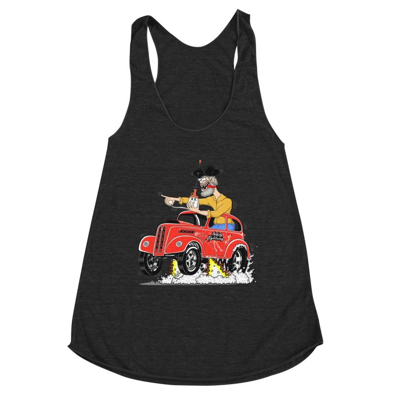 1948 Anglia for Dennis. Rev 1  Women's Racerback Triblend Tank by screamnjimmy's Artist Shop