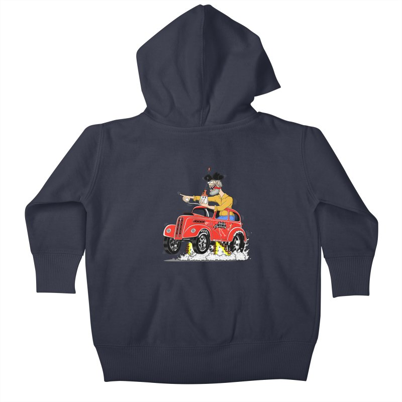 1948 Anglia for Dennis. Rev 1  Kids Baby Zip-Up Hoody by screamnjimmy's Artist Shop