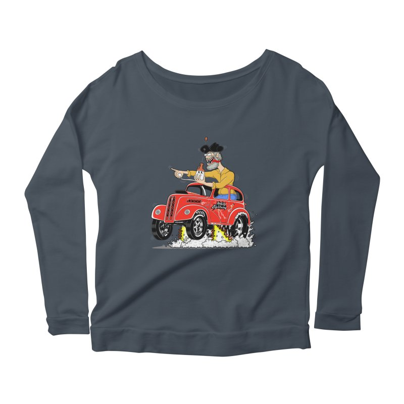 1948 Anglia for Dennis. Rev 1  Women's Longsleeve Scoopneck  by screamnjimmy's Artist Shop