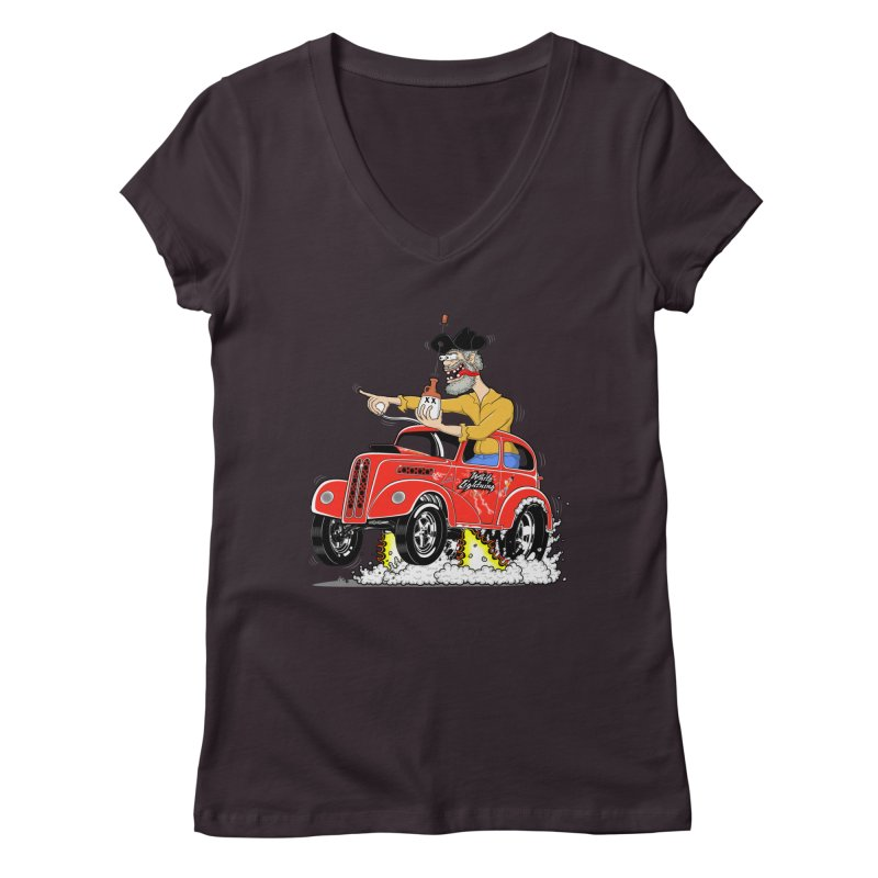 1948 Anglia for Dennis. Rev 1  Women's V-Neck by screamnjimmy's Artist Shop