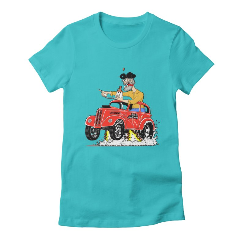 1948 Anglia for Dennis. Rev 1  Women's Fitted T-Shirt by screamnjimmy's Artist Shop