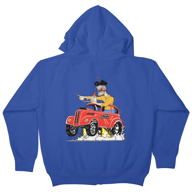 1948 Anglia for Dennis. Rev 1  Kids Zip-Up Hoody by screamnjimmy's Artist Shop