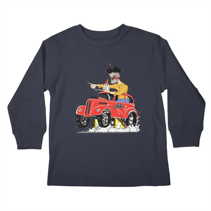 1948 Anglia for Dennis. Rev 1  Kids Longsleeve T-Shirt by screamnjimmy's Artist Shop