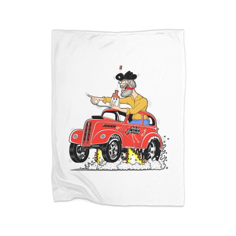 1948 Anglia for Dennis. Rev 1  Home Fleece Blanket Blanket by screamnjimmy's Artist Shop