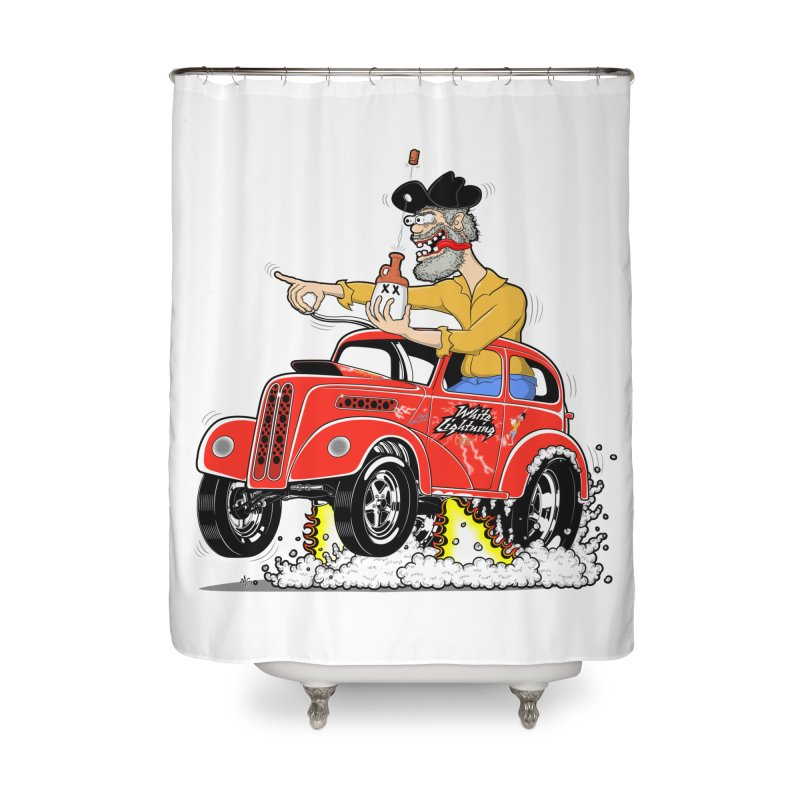 1948 Anglia for Dennis. Rev 1  Home Shower Curtain by screamnjimmy's Artist Shop