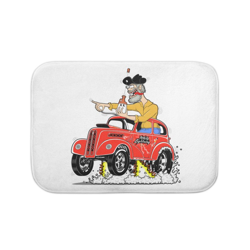 1948 Anglia for Dennis. Rev 1  Home Bath Mat by screamnjimmy's Artist Shop