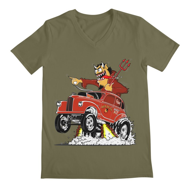 1948 Austin Gasser #1 Men's V-Neck by screamnjimmy's Artist Shop
