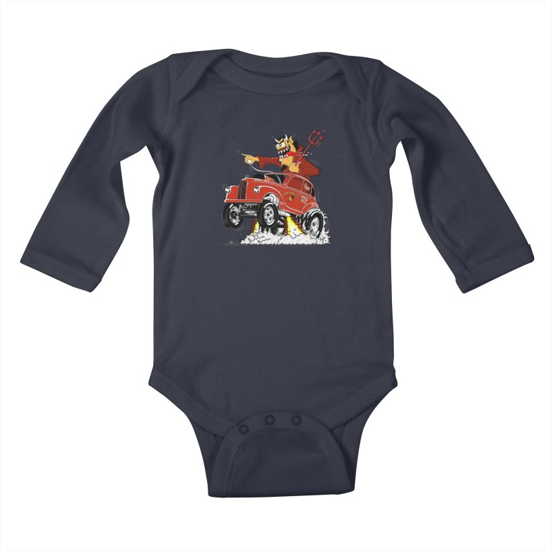 1948 Austin Gasser #1 Kids Baby Longsleeve Bodysuit by screamnjimmy's Artist Shop