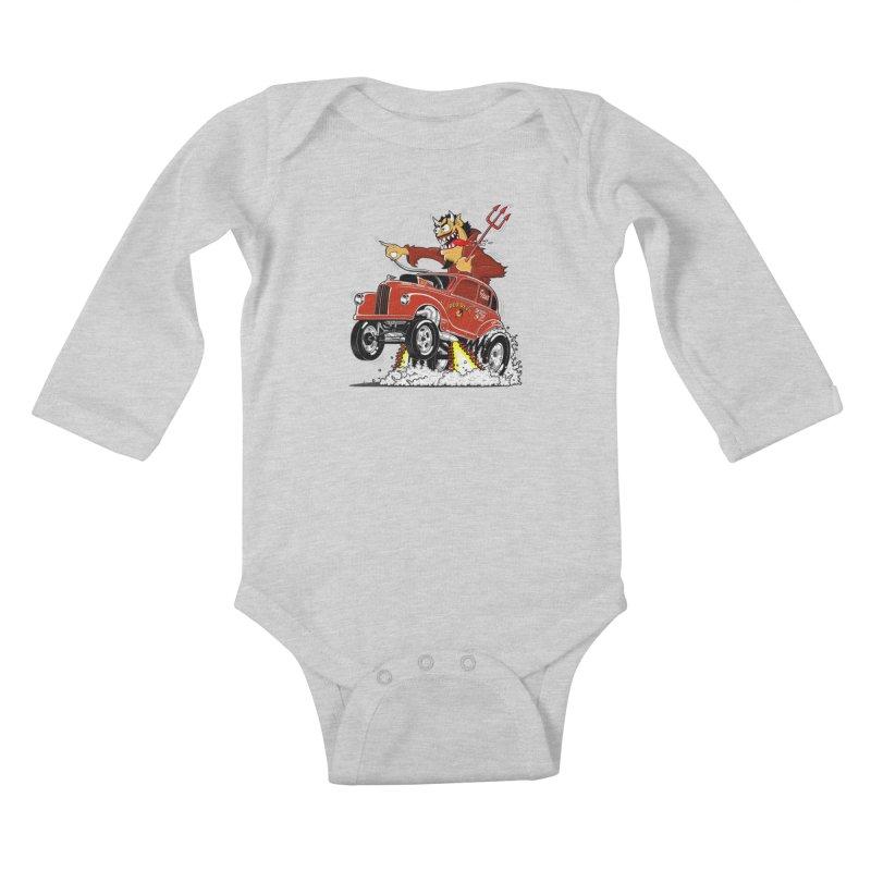 1948 Austin Gasser #1 Kids Baby Longsleeve Bodysuit by screamnjimmy's Artist Shop