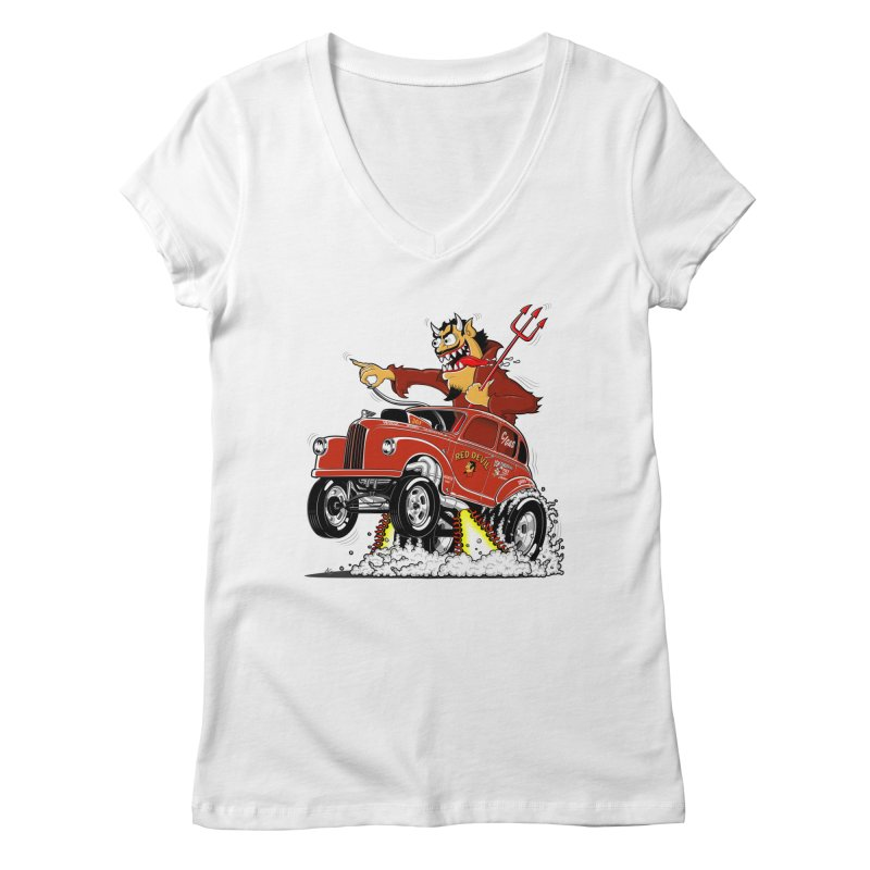1948 Austin Gasser #1 Women's V-Neck by screamnjimmy's Artist Shop