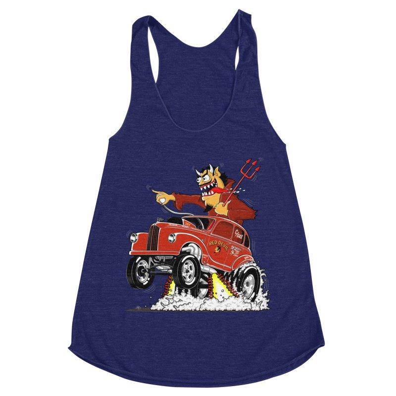 1948 Austin Gasser #1 Women's Racerback Triblend Tank by screamnjimmy's Artist Shop