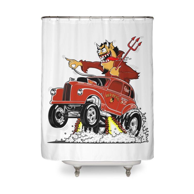 1948 Austin Gasser #1 Home Shower Curtain by screamnjimmy's Artist Shop