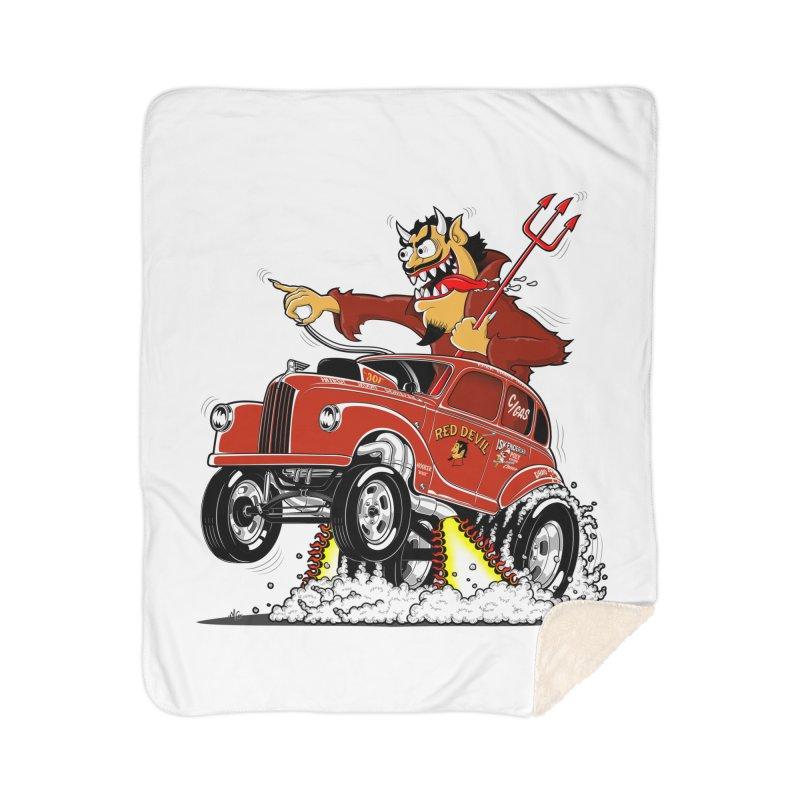 1948 Austin Gasser #1 Home Sherpa Blanket Blanket by screamnjimmy's Artist Shop