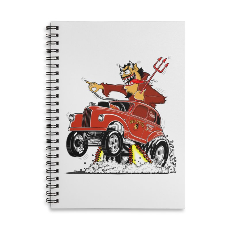 1948 Austin Gasser #1 Accessories Lined Spiral Notebook by screamnjimmy's Artist Shop
