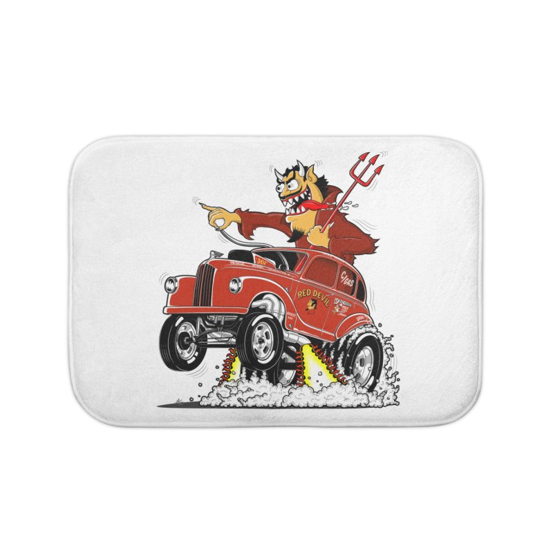 1948 Austin Gasser #1 Home Bath Mat by screamnjimmy's Artist Shop