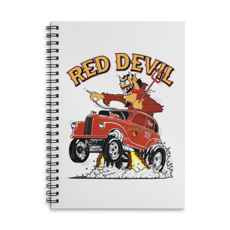 1948 Austin Gasser #2 Accessories Lined Spiral Notebook by screamnjimmy's Artist Shop