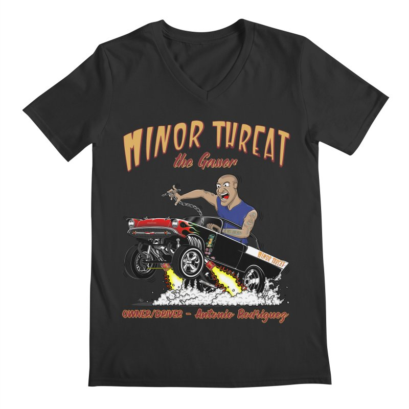 57 Gasser MINOR THREAT, rev 2.0 Men's V-Neck by screamnjimmy's Artist Shop